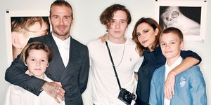 Beckham family picture at launch of Brooklyn's photography book
