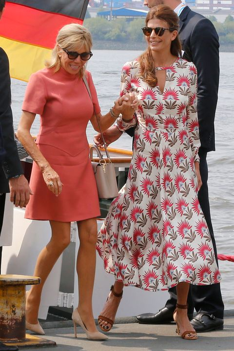 Brigitte Macron and Juliana Awada in Hamburg