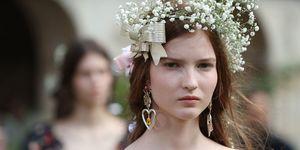 Rodarte Haute Couture 2018 show - flower crowns