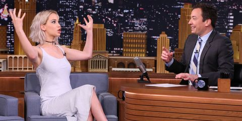 Jimmy Fallon and Jennifer Lawrence   ELLE UK