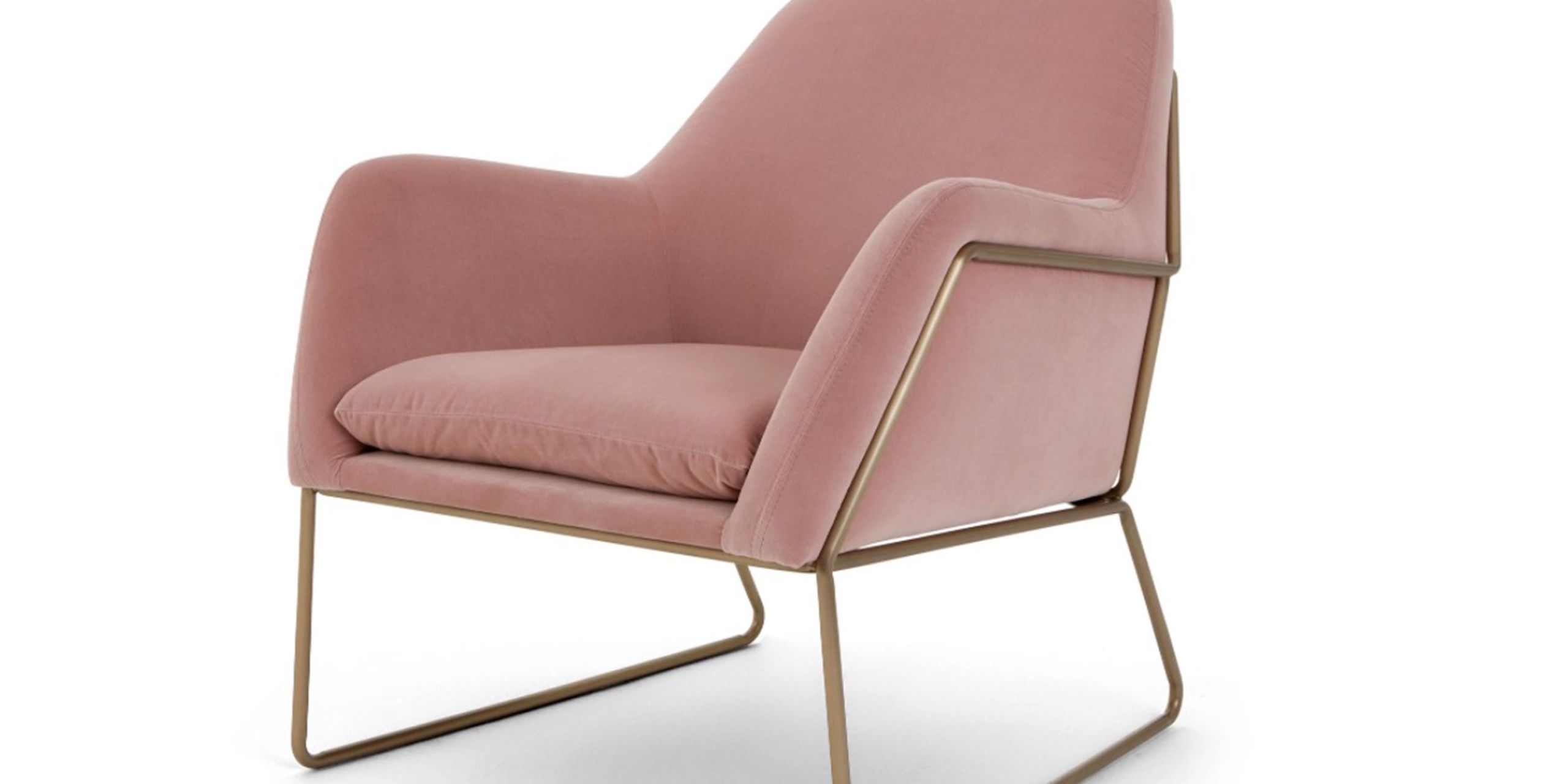 Made Blush Pink Velvet Chair