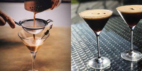 Drink, Alcoholic beverage, Distilled beverage, Stemware, Martini glass, Cocktail, Liqueur, Champagne stemware, Food, Wine cocktail,