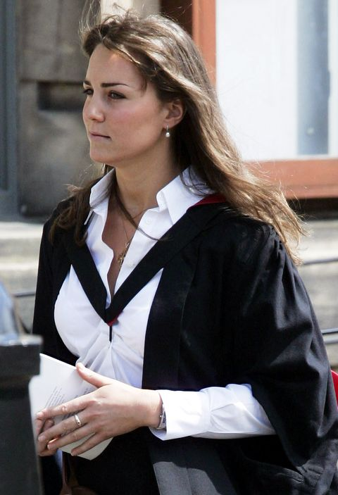 <p>Kate owns a truly stunning Victorian eternity band made from garnets (her birthstone) and pearls (the birthstone of Prince William). She's been wearing the ring on and off since the early days of their courtship, and lore (read: royal-obsessed blogs) says it was purchased by HRH.&nbsp;</p>