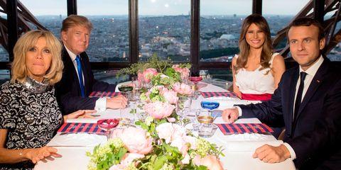 Donald Trump Melania Brigitte Macron