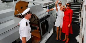 Brigitte Macron and Melania Trump in Paris