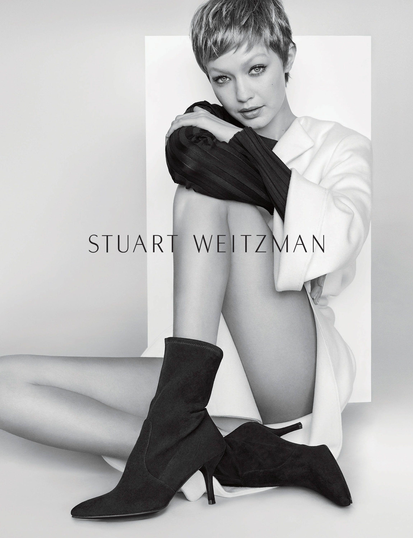 Gigi Hadid Pixie Cut Gigi Hadid Short Hair In Stuart Weitzman Campaign