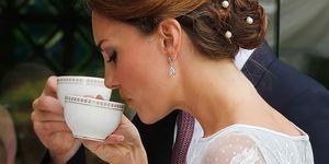 Duchess of Cambridge drinking tea