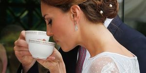 Duchess of Cambridge drinking tea