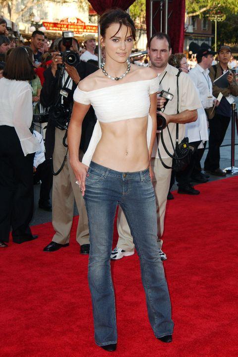 Keira Knightley wearing low-rise jeans in 2003