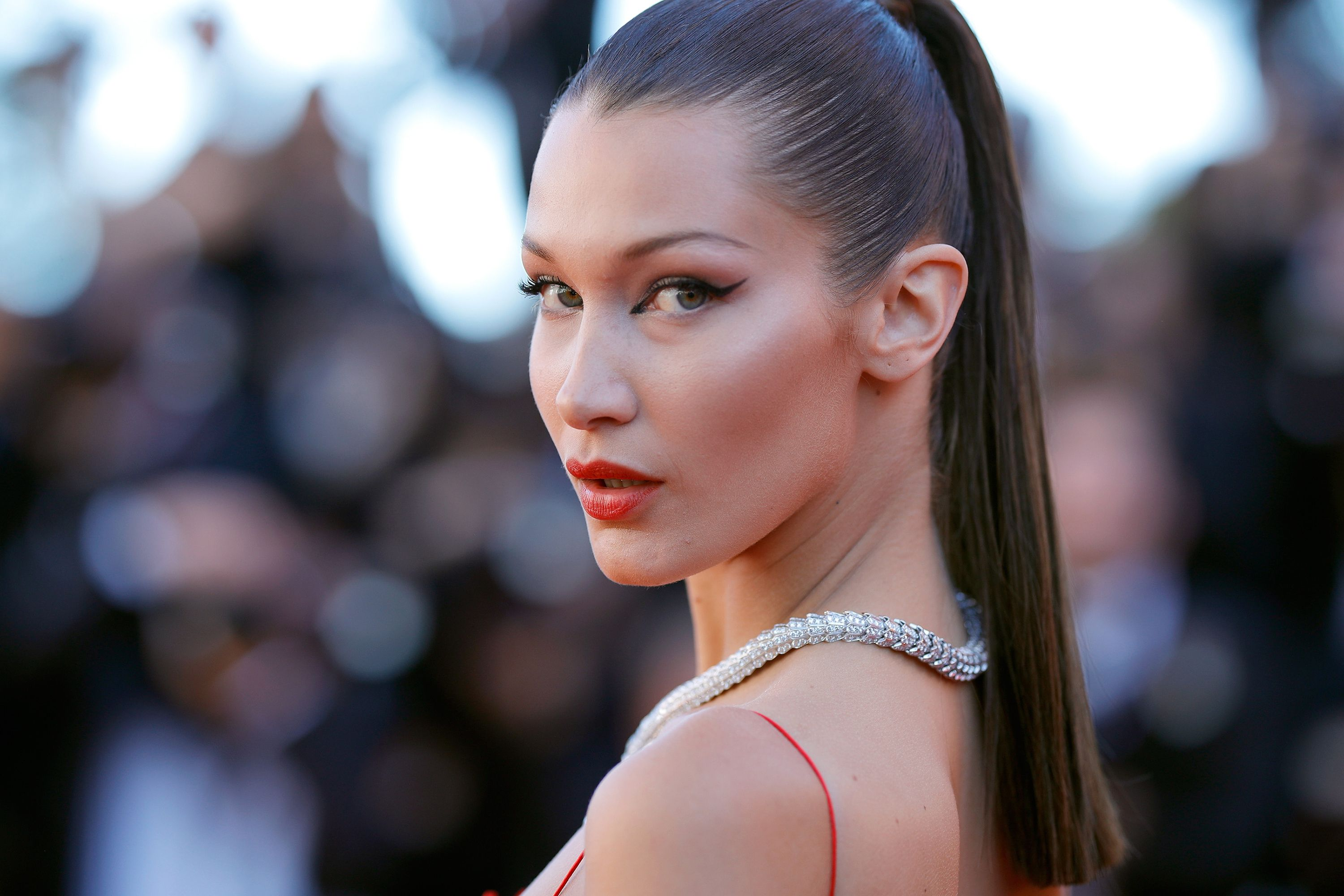 Bella Hadid shouted at her security guard for pushing' a female photographer