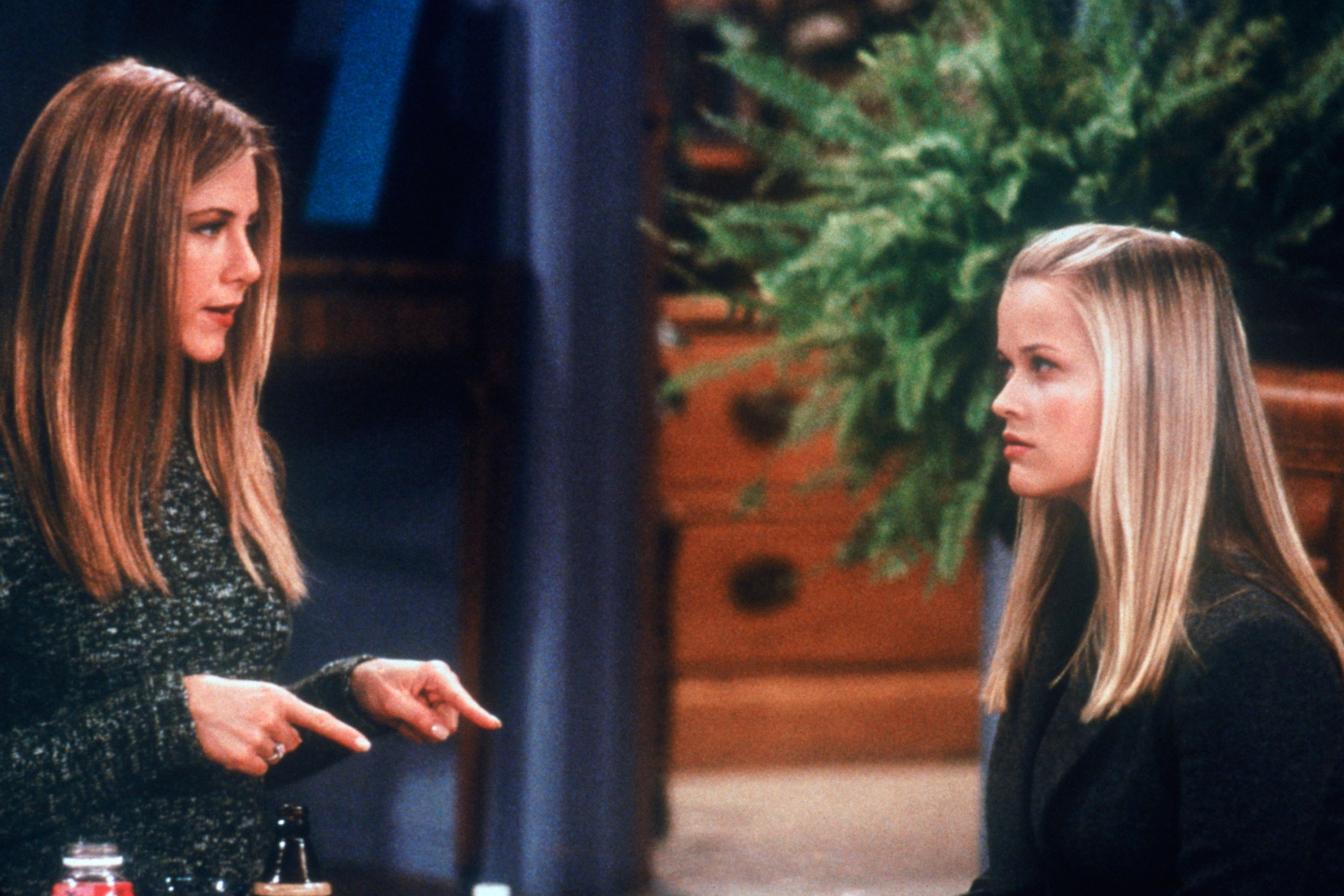 Jennifer Aniston and Reese Witherspoon in 'Friends'. Getty Images