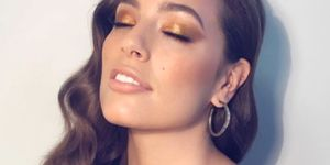 Ashley Graham with copper eyeshadow