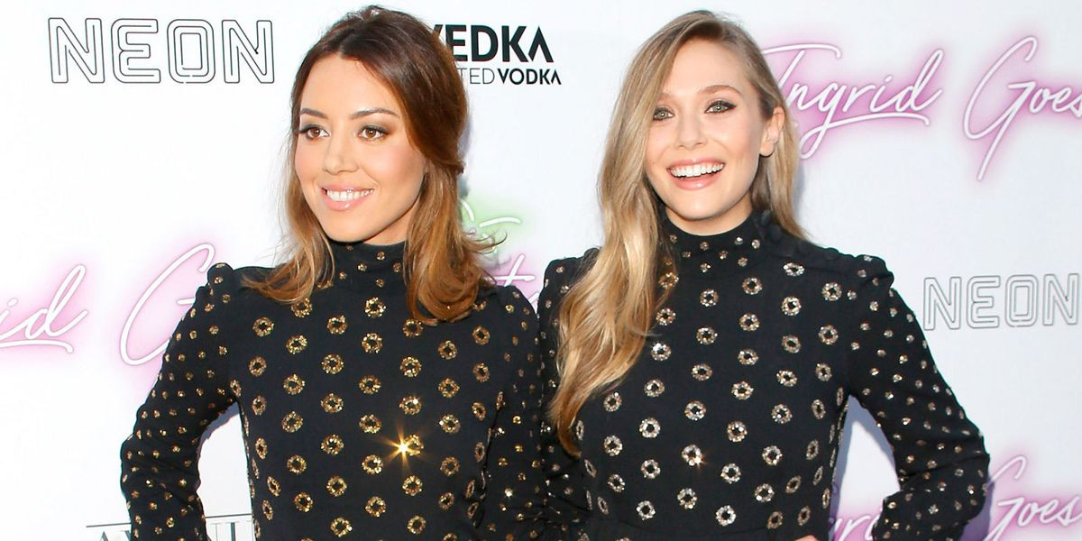 Elizabeth Olsen and Aubrey Plaza Turn Up To a Movie Premiere Wearing the Same Dress