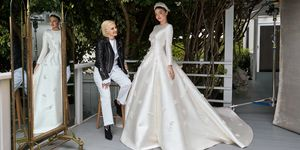 Miranda Kerr in her Dior wedding dress