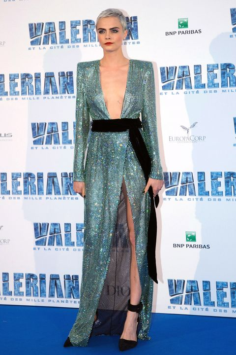 8c568fc3f4 Cara Delevingne just wore that Alexandre Vauthier gown Bella Hadid ...