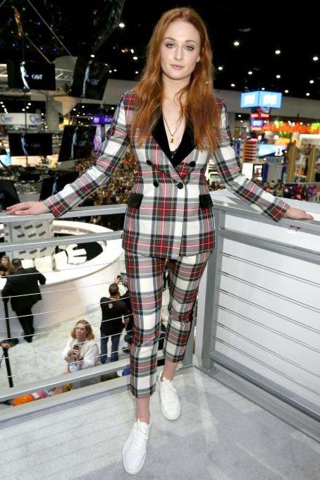 Sophie Turner wearing a suit