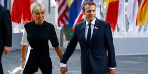 Brigitte and President Emmanuel Macron in Hamburg