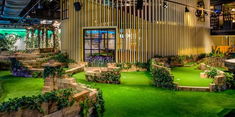 Building, Architecture, Property, Lighting, House, Home, Grass, Interior design, Facade, Real estate,