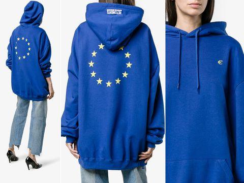Hoodie, Clothing, Outerwear, Hood, Blue, Cobalt blue, Jacket, Electric blue, Sleeve, Coat,