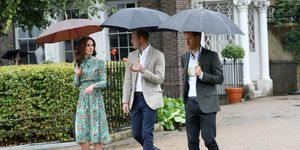 Kate Middleton, Prince William, Prince Harry at the White Garden
