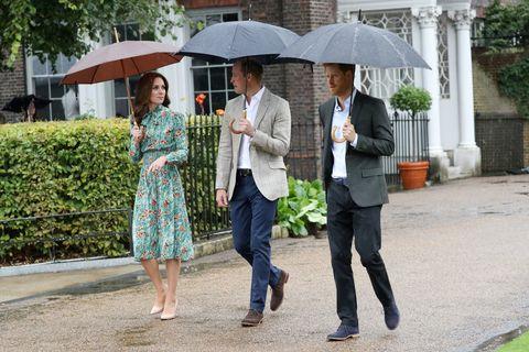 Kate Middleton, Prince William, Prince Harry at the White Garden