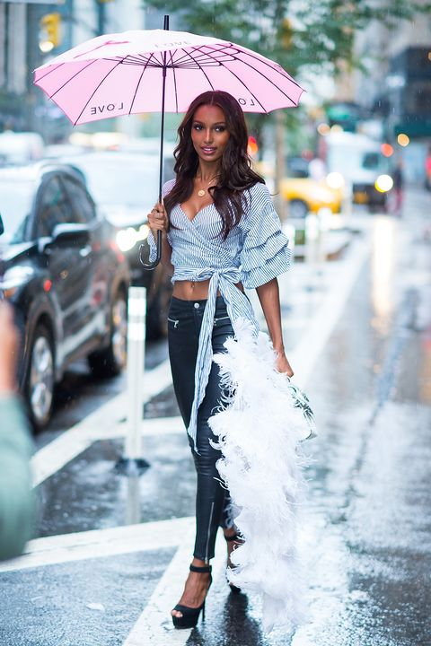 Victoria's Secret models street style - castings and fittings in New York for the Victoria's Secret Fashion Show