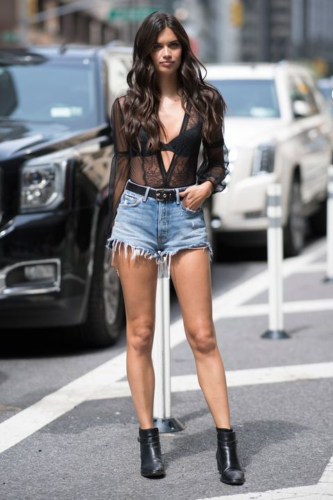 Sara Sampaio arrives at Victoria's Secret show fitting