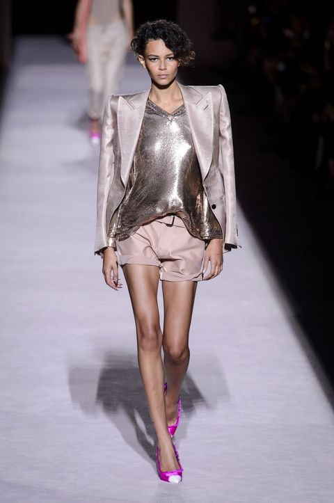 Fashion model, Fashion, Fashion show, Runway, Clothing, Haute couture, Public event, Leg, Lip, Shoulder,