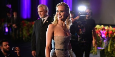 Jennifer Lawrence at the Paris premiere of Mother