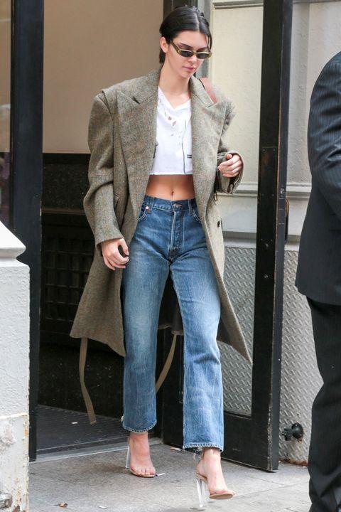 Clothing, Jeans, Street fashion, Denim, Fashion, Outerwear, Blazer, Coat, Footwear, Jacket,
