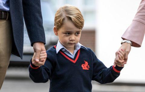 Child, Gesture, Arm, Uniform, Hand, Finger, Thumb, Toddler, Smile, School uniform,