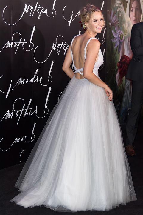 Jennifer Lawrence wears Dior wedding dress