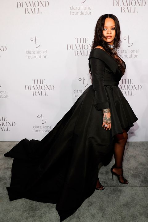 Rihanna wears dramatic black Ralph & Russo gown to the Diamond Ball 2017