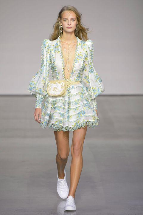 Fashion model, Fashion, Fashion show, Runway, Clothing, Shoulder, Public event, Footwear, Fashion design, Event,