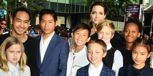Vivienne Jolie-Pitt, Maddox Jolie-Pitt, Pax Jolie-Pitt, Kimhak Mun, Knox Jolie-Pitt, Shiloh Jolie-Pitt, Angelina Jolie, Zahara Jolie-Pitt and Sareum Srey Moch attend 2017 Toronto International Film Festival - 'First They Killed My Father' at the TFF