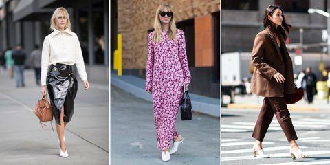 White heels street style trend