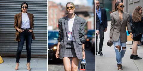 Checked blazer trend at New York Fashion Week