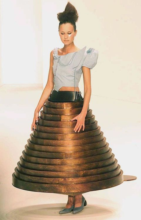 Hussein Chalayan coffee table dress