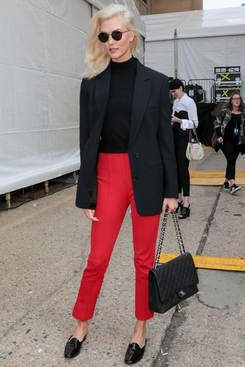 Clothing, Street fashion, Blazer, Suit, Fashion, Outerwear, Eyewear, Sunglasses, Footwear, Pink,