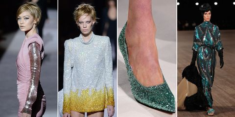 Sequins on the New York Fashion Week catwalks