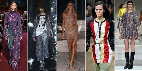 Sparkles on the London Fashion Week catwalk