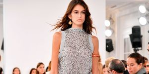 Kaia Gerber on the Chloé catwalk