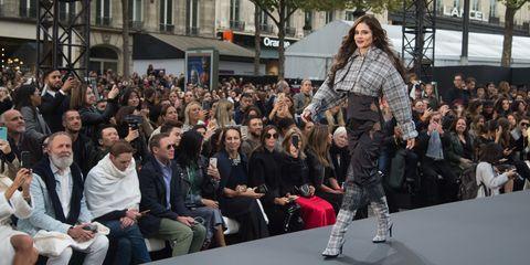 Cheryl Cole on the L'Oreal Paris Fashion Week catwalk