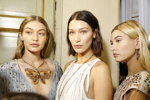 Bella Hadid Gigi Hadid fashion week september 2018