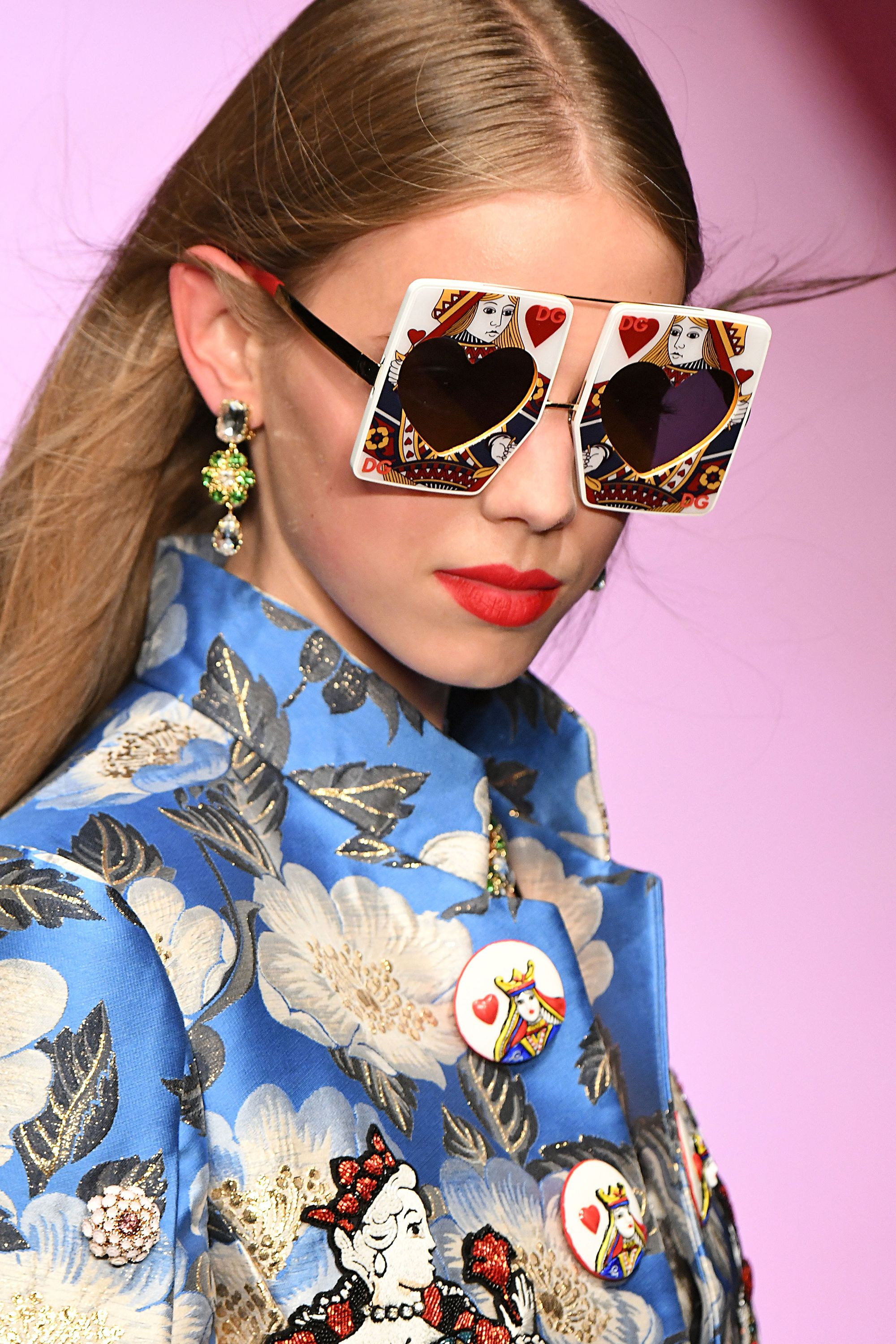 a54973e903de Best accessories from Dolce   Gabbana spring summer 2018 show - Dolce  sunglasses