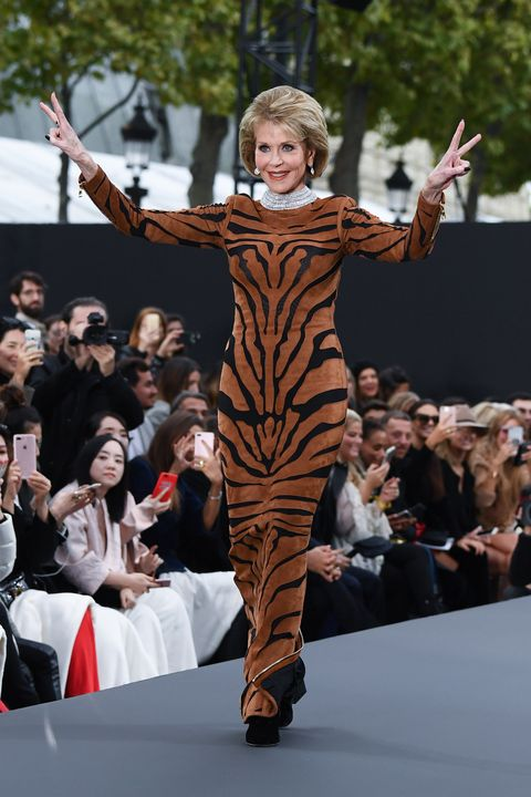 L'Oreal Paris takes over the Champs Elysees for a Paris Fashion Week catwalk show