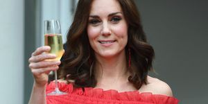 Duchess of Cambridge holding Prosecco