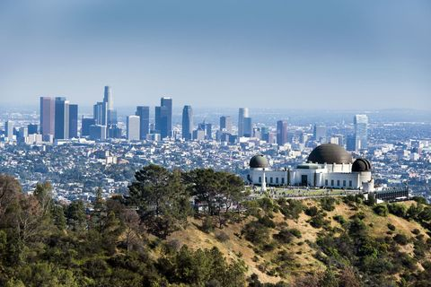 The Griffith Observatory in LA