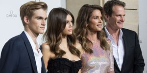 Presley, Rande and Kaia Gerber with Cindy Crawford for Omega