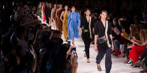 Runway, Fashion, Fashion show, Event, Fashion design, Fashion model, Crowd, Public event, Design, Model,